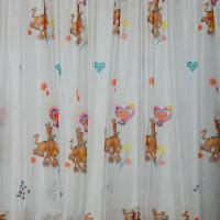 Perdea copii alba, din voal, cu Scooby Doo